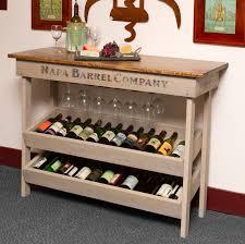 Sofa Table Design, Sofa Table Wine Rack Fascinating Rustic Design Cream  Stained Finish Rectangle Fiberboard