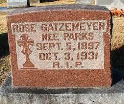 Rose Myrtle Parks Gatzemeyer (1897-1931) - Find A Grave Memorial