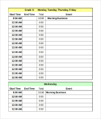 Daily Time Schedule Template Daily Schedule Template 37 Free Word Excel Pdf Documents