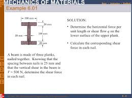 shear force example. example shear force i