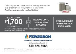 receive up to 1700 off lennox home comfort products ferguson