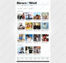 Custom Newspaper Template Website Templates News Wall Portal Newspaper Entertainment Events