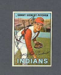 1967 Topps #95 Sonny Siebert Cleveland Indians Baseball Card