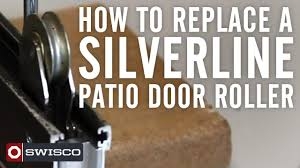 How to replace a Silverline patio door roller - YouTube