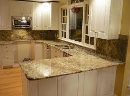 minimalist kitchen design with granite look laminate countertops u shaped kitchen white cabinets and granite
