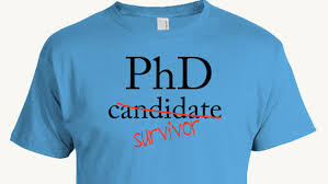 PhD Candidate Survivor T shirt Doctoral Program by AspieTees