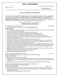 Sample Resume Hotel Assistant General Manager Inspirationa