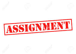 assignment red rubber stamp over a white background stock photo  assignment red rubber stamp over a white background stock photo 27314541