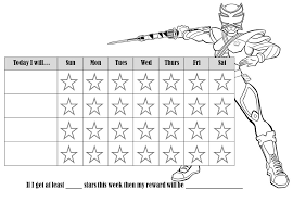 weekly reward chart printable behavior charts that can be colored