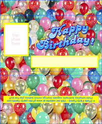 Chocolates Wrappers Birthday Chocolate Bar Wrapper Free Printable Candy Bar