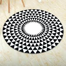 round black bathroom rug mandala geometric pattern bath white inch and diamond mat from bed bathroom bath mat black white rug