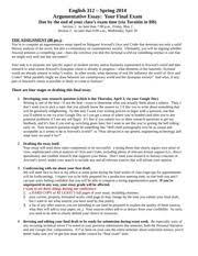 argumentative essay oryx and crake stansell section  2 pages argumentative essay assignment