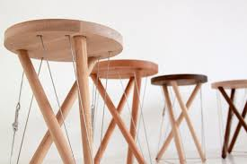 tensegrity furniture. 3 strut wood stools by wellerjpeg tensegrity furniture e