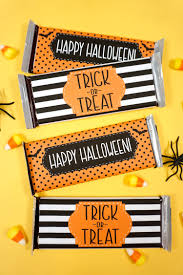 Each one of these designs comes. Free Printable Halloween Candy Bar Wrappers Happiness Is Homemade
