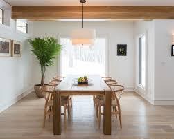 contemporary dining room pendant lighting. Wooden Beam Ceiling For Contemporary Dining Room Ideas Using Modern Pendant Lighting With White Drum Shade