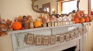 Ideas. 36 Marvelous Thanksgiving Decor Ideas. Breathtaking Thanksgiving  Miniature Decoration Above Fire Place Featuring