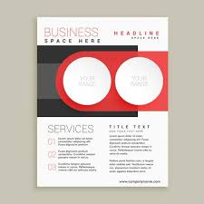 White Brochure Modern Business Flyer And Brochure Design In Red And White Color