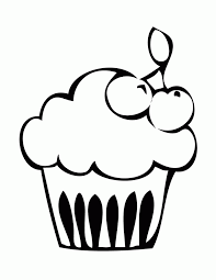 Small Picture Cupcake With Cherry Coloring Page H M Coloring Pages