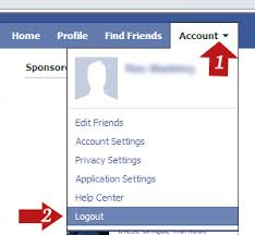 facebook login logout button. How Do Log Out Of Facebook The Button Is And Login Logout