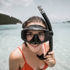 woman wearing black <b>diving goggles and snorkel</b> photo – Free ...