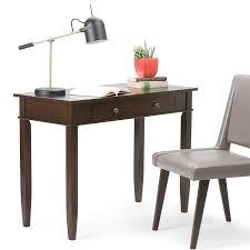 office desks for home. Amazon.com: Simpli Home Carlton Solid Wood Office Desk, Dark Tobacco Brown: Kitchen \u0026 Dining Desks For