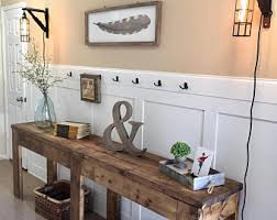 foyer furniture. 7 Foot Entry Way Table | TV Console Rustic Farmhouse Foyer Furniture S