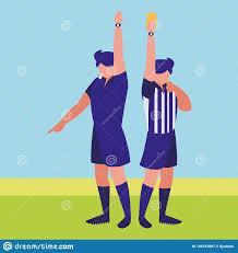 Referee Design Soccer Referee Design Stock Vector Illustration Of Field