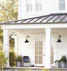 Carson Gooseneck Metal Roof Roof Lantern And Black Accents - Gooseneck exterior lighting