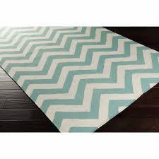 teal and white chevron rug  rugs ideas