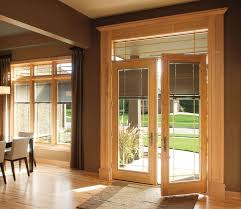 pella designer series hinged patio doors offer innovative between the glass blinds shades