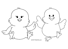 Baby Chick Printable Coloring Pages Vosvetenet