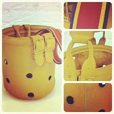 Inspiration for our Coach Legacy Grommet Duffle- see-thru Bucket Bag circa  late 1960s