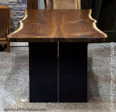 living edge furniture. Live Edge Dining Table In Solid Book-matched Black Walnut Slabs Steel Plate Living Furniture .