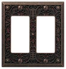 amerelle wall plate filigree cast 2 rocker wall plate traditional switch plates and covers by