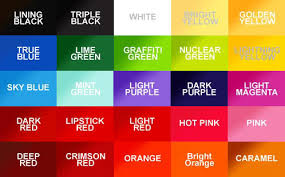 Eternal Ink Colour Chart Ribbon Color Chart Pop Tattoo Color Chart