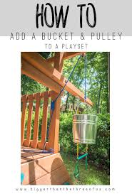This tutorial will show you how to add a BUCKET and Pulley to a playset in