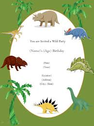 Dinosaur Birthday Invitation Free Printable Invite In 2019 Dinosaur Party Invitations