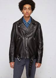 acne studios nate clean leather biker jacket
