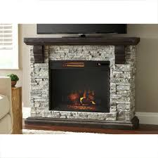 full image for wildon home conway electric fireplace faux stone mantel gray franklin with firebox in