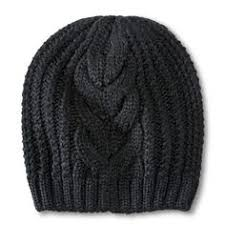 Women's Cable Knit Beanie Hat in Black (Target) | <b>Шапка</b>