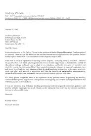 Teacher Cover Letter Example - Sample