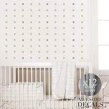 gold or silver polka dots wall decal polka dots by