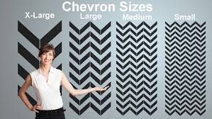 choose one of our four standard size chevron designs or let us custom size one