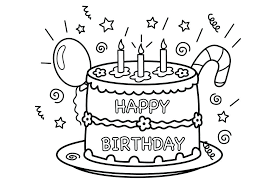 Fascinating Cake Coloring Pages Outstanding Birthday Cake Coloring