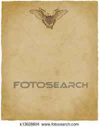 Letterhead Stationary Usa Eagle Letterhead Stationery Stock Illustration