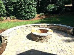 paver fire pit kit s pavestone home depot for round