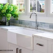 fireclay farmhouse sink 33 inch. Luxury 33 Inch Pure Fireclay Modern Farmhouse Kitchen Sink In White Single Bowl With Flat To
