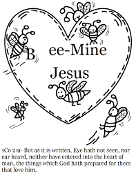 Childrens Printable Coloring Images Of Jesus Holding My Heart