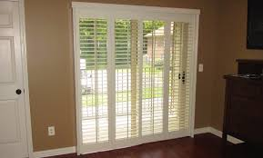 southern california sliding door bifold shutters in living room