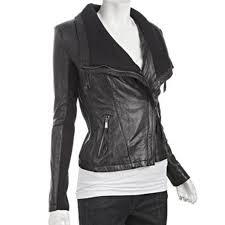 asymmetrical black leather jacket zoom asymmetrical